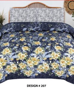 7 Piece Bedsheet Set With Quilt Cover King Size