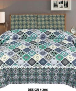 7 Piece Bedsheet Set With Quilt Cover,